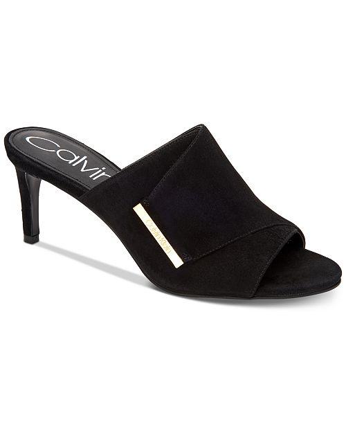 6aa586e38c0 Calvin Klein Women s Carine Dress Sandals   Reviews - Sandals   Flip ...