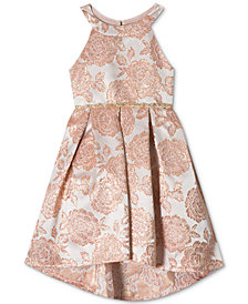 Rare Editions Little Girls Metallic Brocade Party Dress