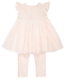 First Impressions Baby Girls 2-Pc. Tulle Tunic & Leggings Set, Created for Macy's