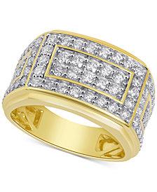 Men's Diamond Cluster Ring (2 ct. t.w.) in 10k Gold