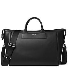 Michael Kors Men's Leather Weekender Bag