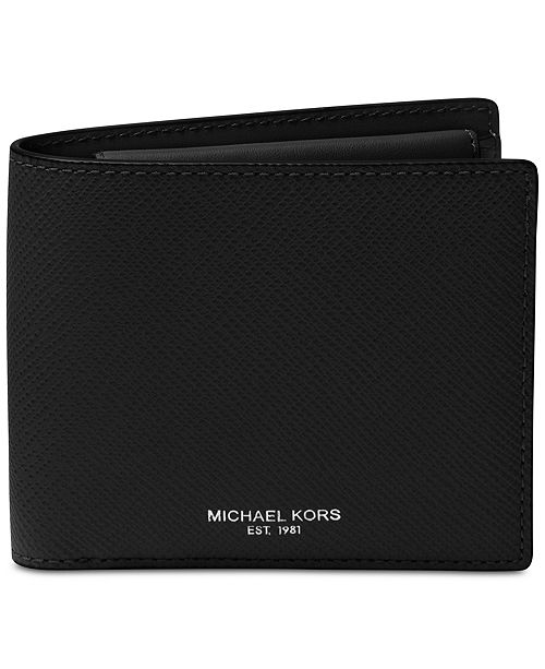 902a1f7b809d Michael Kors Men s Harrison Leather Billfold Wallet   Reviews - All ...