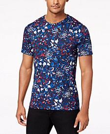 Michael Kors Men's Slim-Fit Floral Graphic T-Shirt