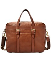 Fossil Men s Haskell Leather Utility Briefcase 37144201f2315