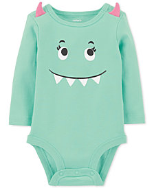 Carter's Baby Girls Cotton Monster Bodysuit