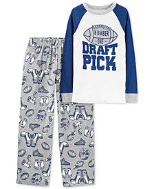 Carter's Little & Big Boys 2-Pc. Draft Pick Pajama Set