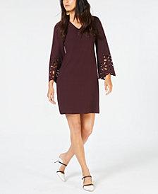 Alfani Petite Laser-Cut A-Line Dress, Created for Macy's