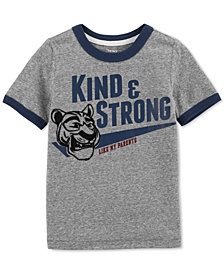 Carter's Toddler Boys Strong-Print Ringer T-Shirt