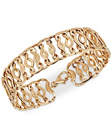 Openwork Fancy Link Chain Bracelet in 14k Gold