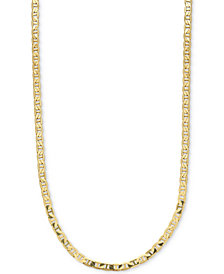 "Men's Open Link 22"" Chain Necklace in 10k Gold"