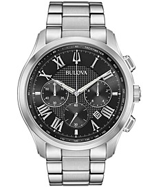 Men's Chronograph Wilton Stainless Steel Bracelet Watch 46.5mm