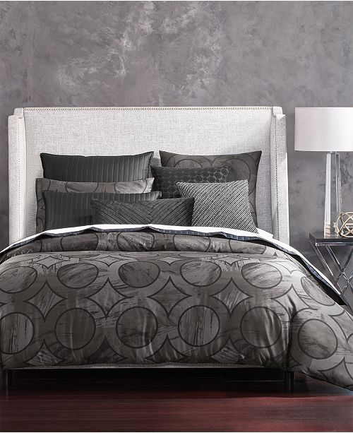 Hotel Collection CLOSEOUT! Marble Geo King Comforter, Created for Macy's