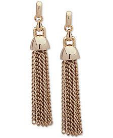 Lauren Ralph Lauren Gold-Tone Chain Tassel Linear Drop Earrings