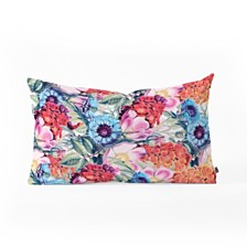 Deny Designs 83 Oranges Neon Bloom Oblong Throw Pillow