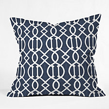 Deny Designs Caroline Okun Dark Trellis Throw Pillow
