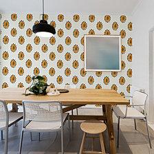 Genevieve Gorder for Tempaper Maya's Papayas Self-Adhesive Wallpaper