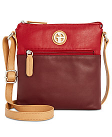 Giani Bernini Colorblock Leather Crossbody, Created for Macy's