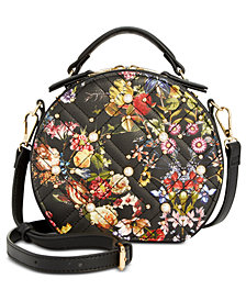 I.N.C. Rilie Floral Circle Top-Handle Crossbody, Created for Macy's
