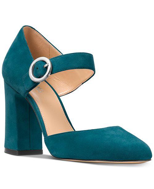 00d1486eb85 Michael Kors Alana Block Heel Pumps   Reviews - Pumps - Shoes ...