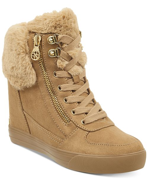 1810f6a1dcc GUESS Women s Dustyn Wedge Sneakers   Reviews - Sneakers - Shoes ...