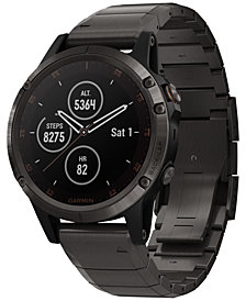 Garmin Unisex fenix® 5 Plus Silicone Band Smart Watch 47mm