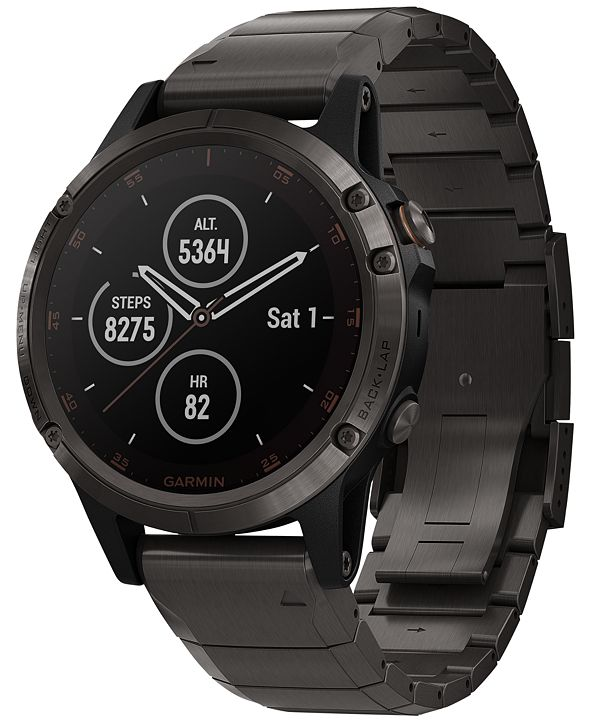 Garmin Unisex fenix® 5 Plus Titanium Band Smart Watch 47mm