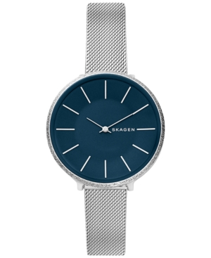 Skagen WOMEN'S KAROLINA STAINLESS STEEL MESH BRACELET WATCH 38MM