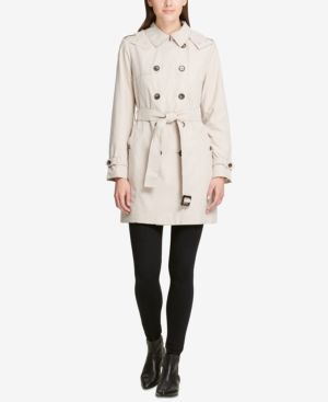 DKNY Double-Breasted Trench Coat, Created For Macy'S in Champagne