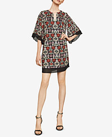 BCBGMAXAZRIA Tati Floral-Embroidered Dress