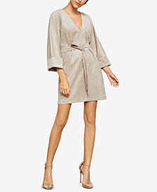 BCBGMAXAZRIA Faux-Suede Mini Dress