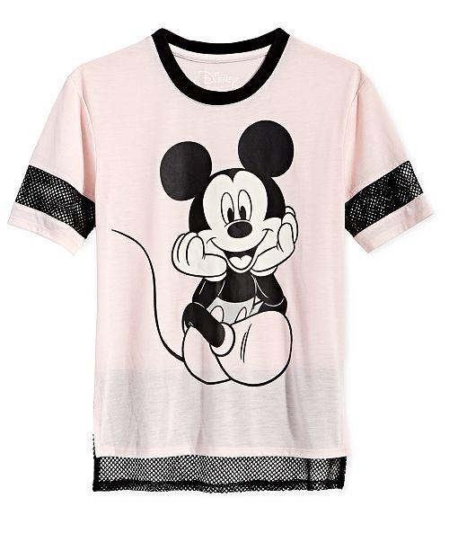 b62408442 Disney Big Girls Mesh-Trim Mickey Mouse T-Shirt & Reviews - Shirts ...
