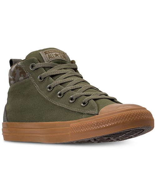 beb27ae917e ... Converse Men s Chuck Taylor All Star Street Mid Combat Zone Casual  Sneakers from Finish ...