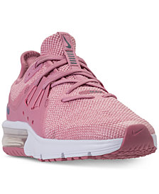 Nike Girls' Air Max Sequent 3 Running Sneakers from Finish Line