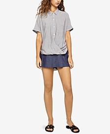 Wrap-Hem Shirt