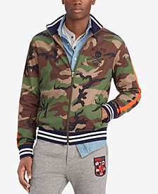 Polo Ralph Lauren Men's Camouflage Cotton Interlock Track Jacket