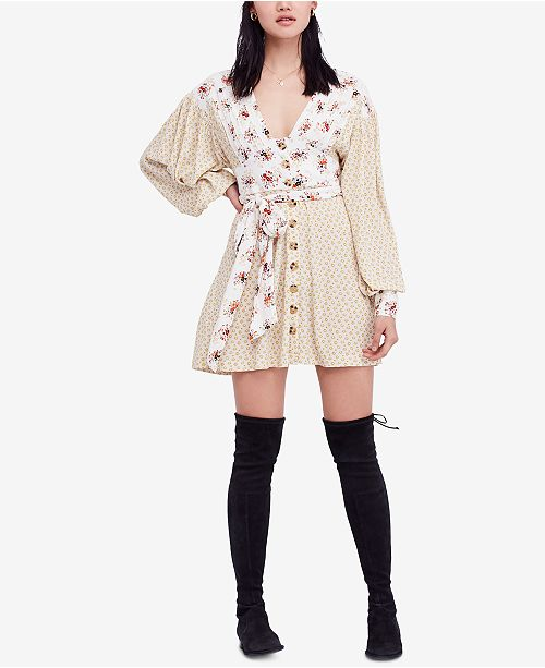 a3a172d3f43c Free People Wonderland Printed Mini Dress & Reviews - Dresses ...