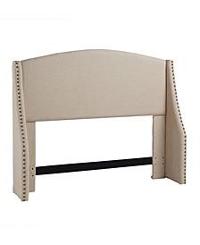 Regis Wing Headboard, Full/Queen, Khaki Linen