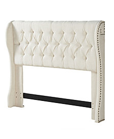 Cambridge Tufted Wing Headboard, Full/Queen, Cornstarch