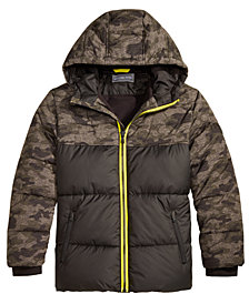 MICHAEL Michael Kors Big Boys Hooded Camo-Print Puffer Jacket