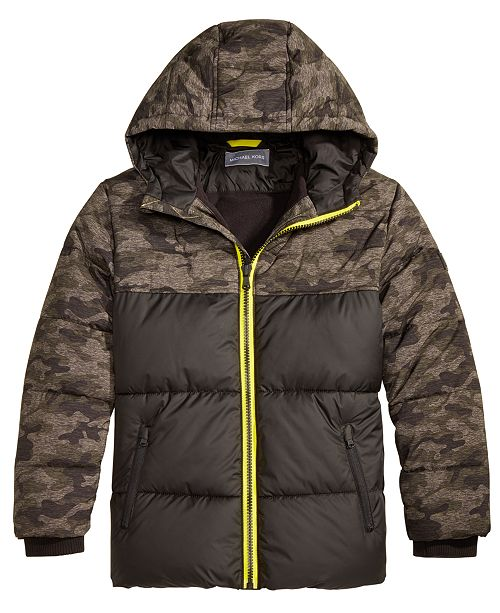 770e1bcd7969 Michael Kors Toddler Boys Hooded Camo Puffer Jacket   Reviews ...