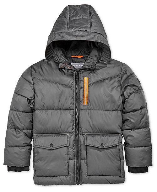4879da6c3 Michael Kors Big Boys Hooded Puffer Jacket   Reviews - Coats ...