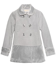MICHAEL Michael Kors Big Girls Velvet-Trim Double-Breasted Coat