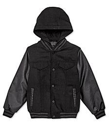 DKNY Toddler Boys Hooded Varsity Jacket