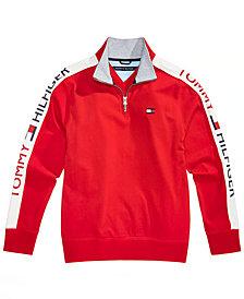 Tommy Hilfiger Big Boys Colorblocked Quarter-Zip Pullover