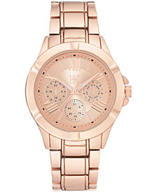 I.N.C. Women's Rose Gold-Tone Mixed-Metal Bracelet Watch 38.5mm, Created for Macy's