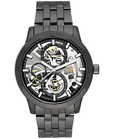 I.N.C. Men's Dark Gunmetal Bracelet Watch 44mm, Created for Macy's