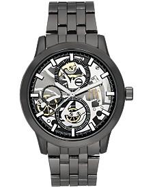 I.N.C. Men's Dark Gunmetal Bracelet Watch 44mm, Created for Macy's