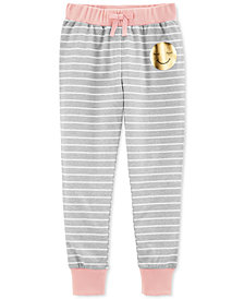 Carter's Big Girls Striped Jogger Pajama Pants