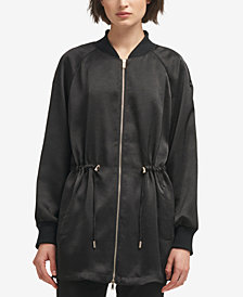 DKNY Long Bomber Jacket, Created for Macy's