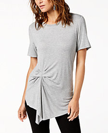 RACHEL Rachel Roy Twist-Front Top, Created for Macy's